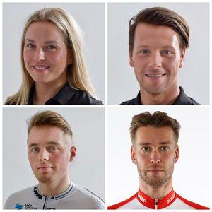Oben (v.l.): Emma Hinze, Eric Engler, Moritz Malcharek und Roger Kluge. Collage: BRV